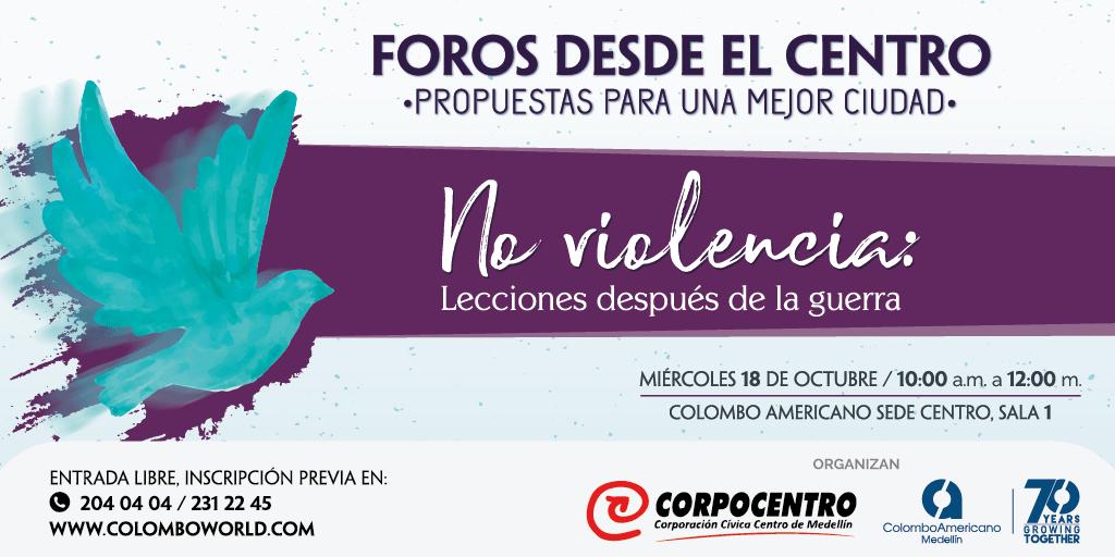 En el centro de Medellín se hablará de no violencia