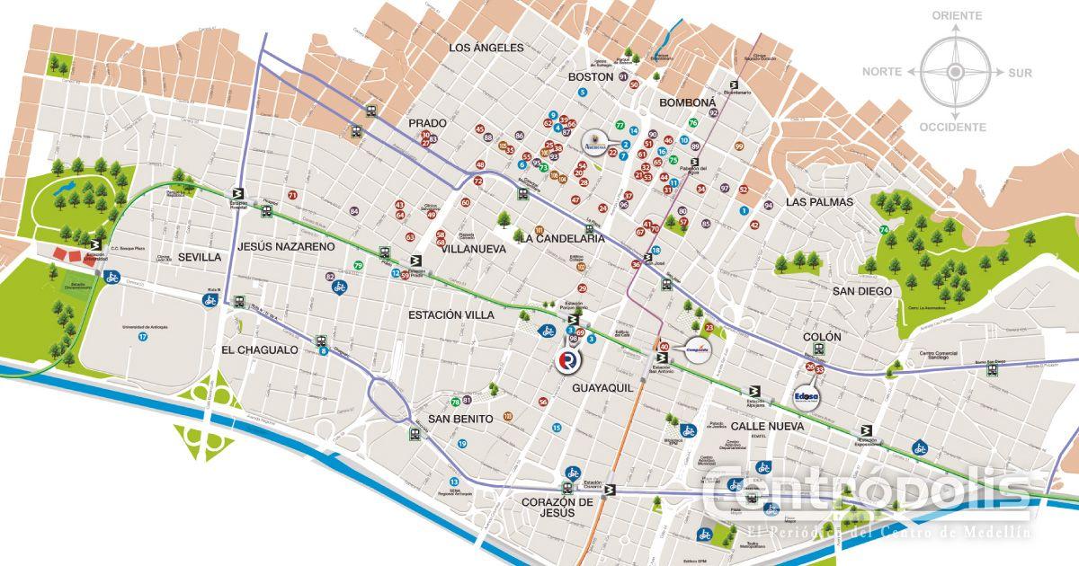 Oferta educativa en el Centro de Medellín