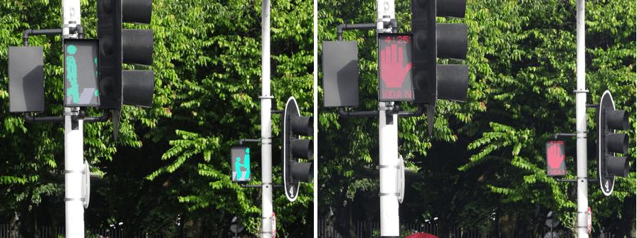El centro tiene nuevos semáforos dinámicos