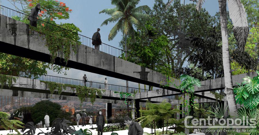 Obras en el centro se levantan verdes y sostenibles