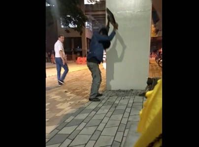 EN VÍDEO: Así destruyen obras de Paseo Bolívar