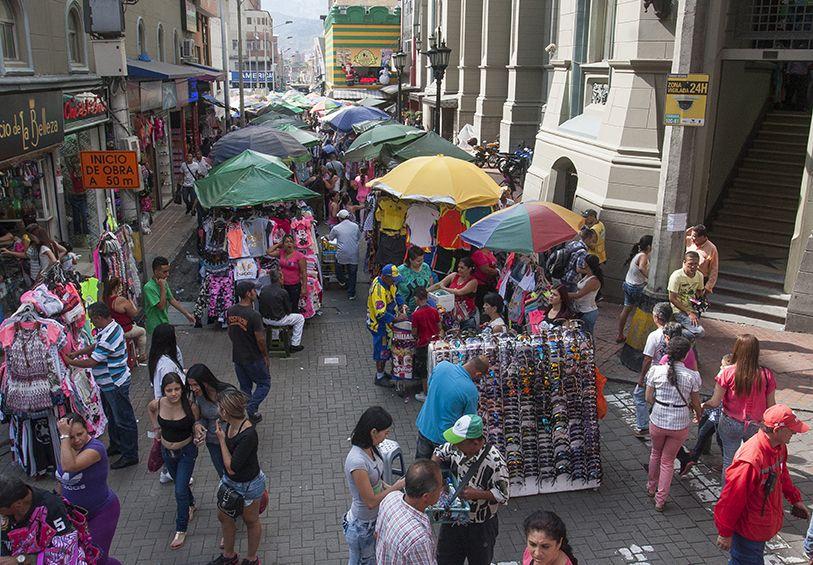 Así marcharán venteros informales en el centro de Medellín este viernes