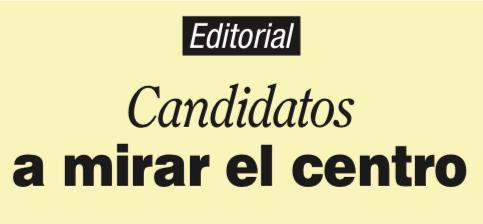 Candidatos a mirar el centro