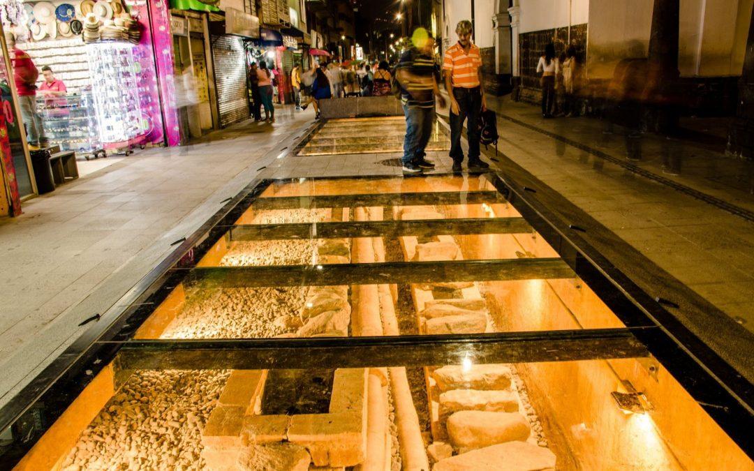Ventana arqueológica de La Veracruz: otro atractivo del Centro