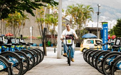 El reto de montar en bicicleta por el centro
