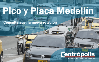 Este es el nuevo Pico y Placa para el segundo semestre en Medellín