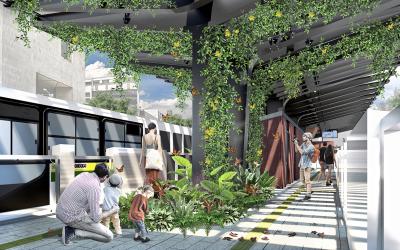 Cambios viales en avenida Oriental por inicio de obras de Metroplús