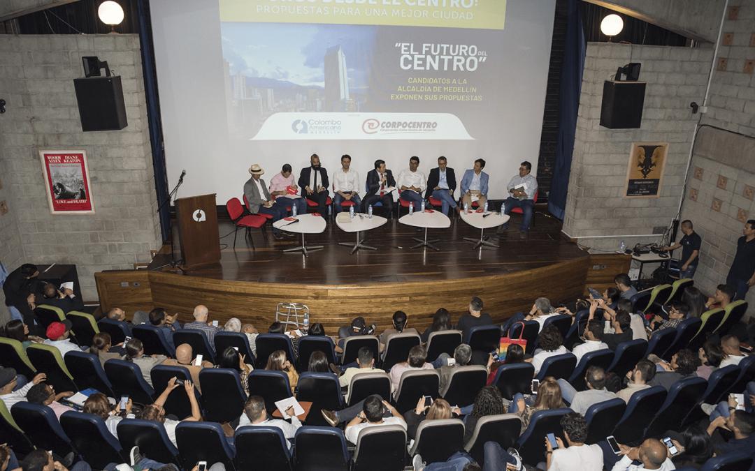 El futuro del centro: candidatos a la Alcaldía expusieron sus propuestas
