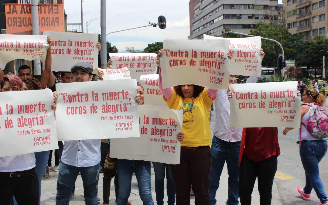 Caminá Pal Centro se pronunció contra las muertes violentas