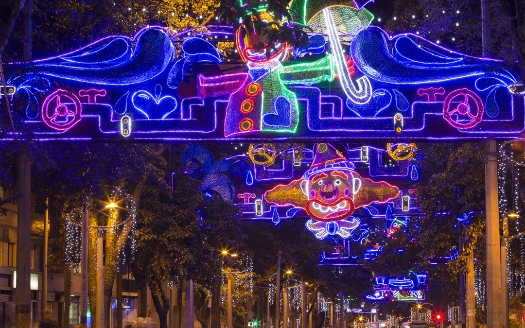 Alumbrados navideños vuelven al centro