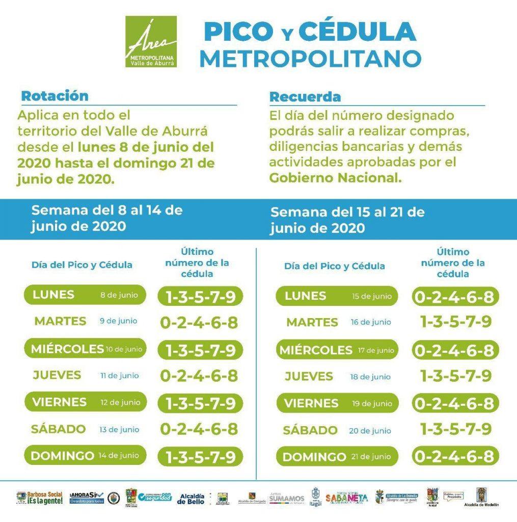 Pico y Cédula hasta 21 de junio