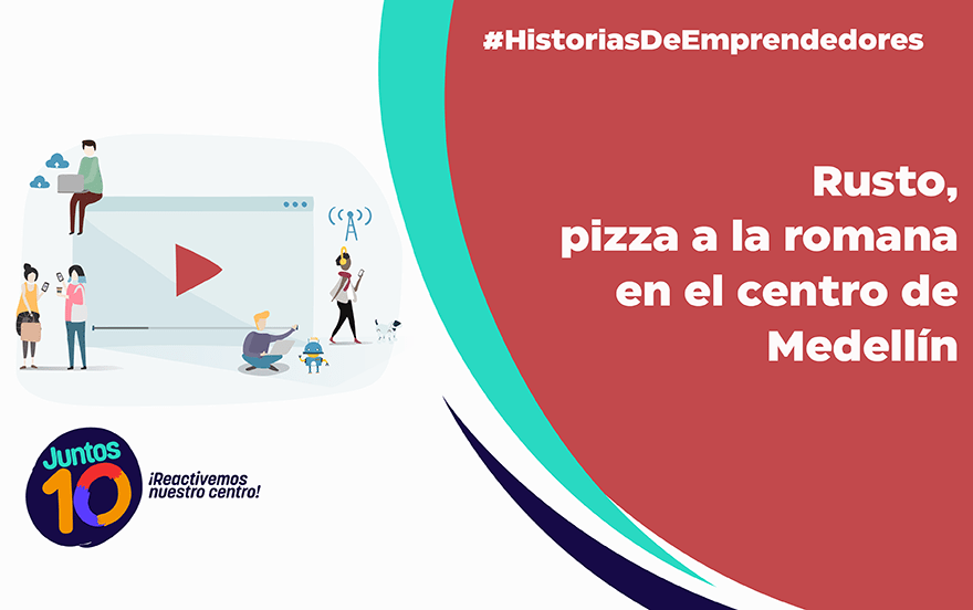 Rusto: pizza a la romana en el centro de Medellín
