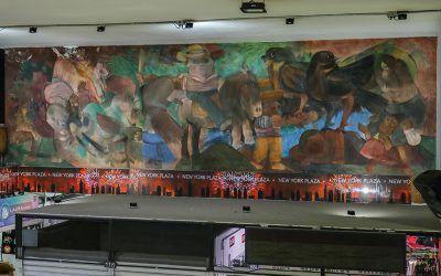 El trasteo de un mural: misión del tamaño de un Botero