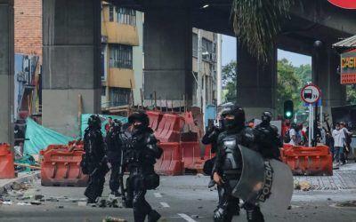 Así quedó el centro de Medellín luego de los actos vandálicos del Paro Nacional