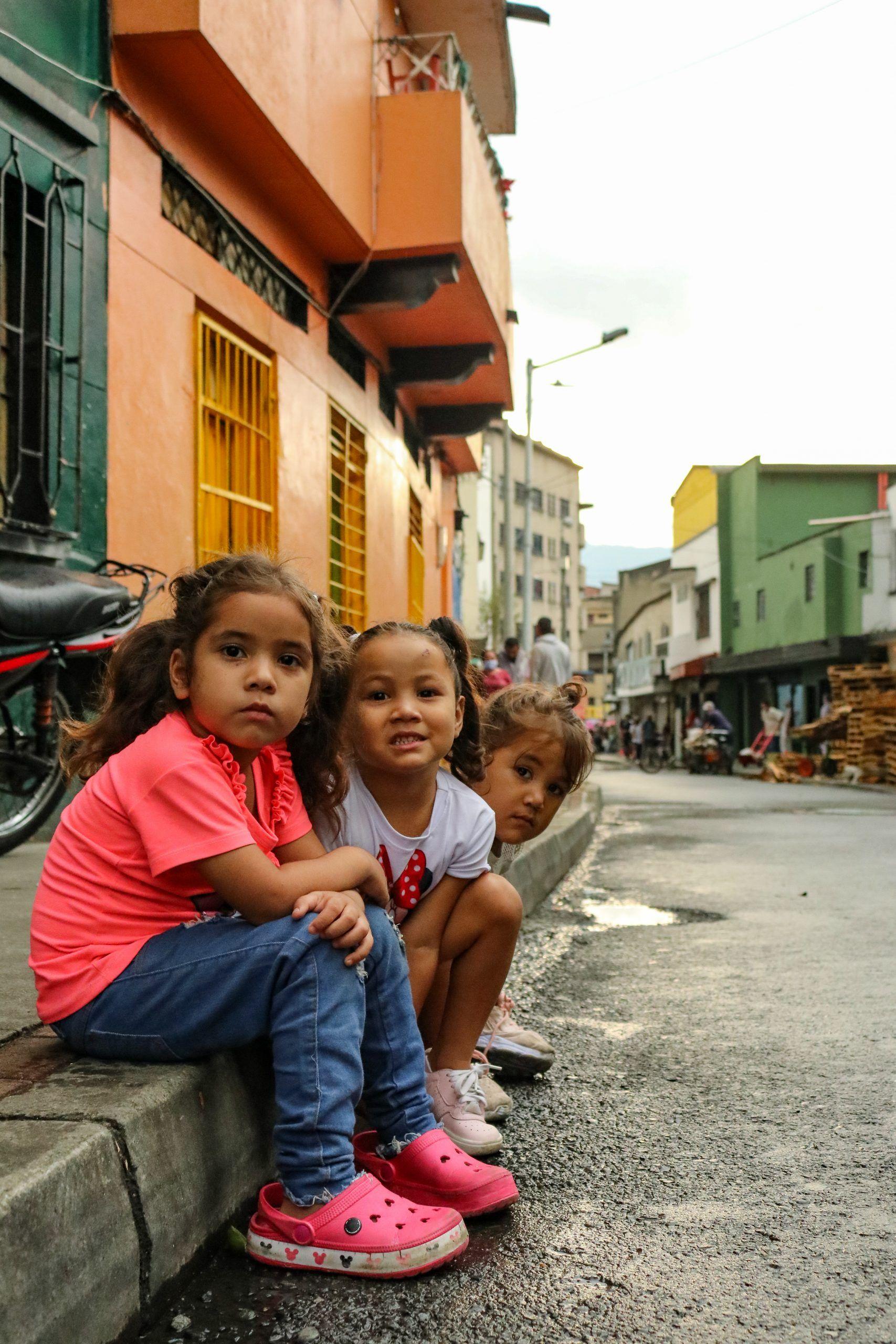 Venezolanos en el centro