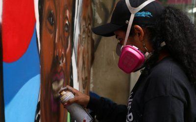 A través de graffitis, Cooperativa Confiar hace un llamado al diálogo