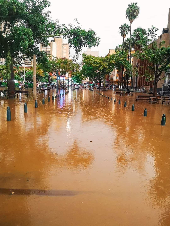 Inundaciones centro de Medellín