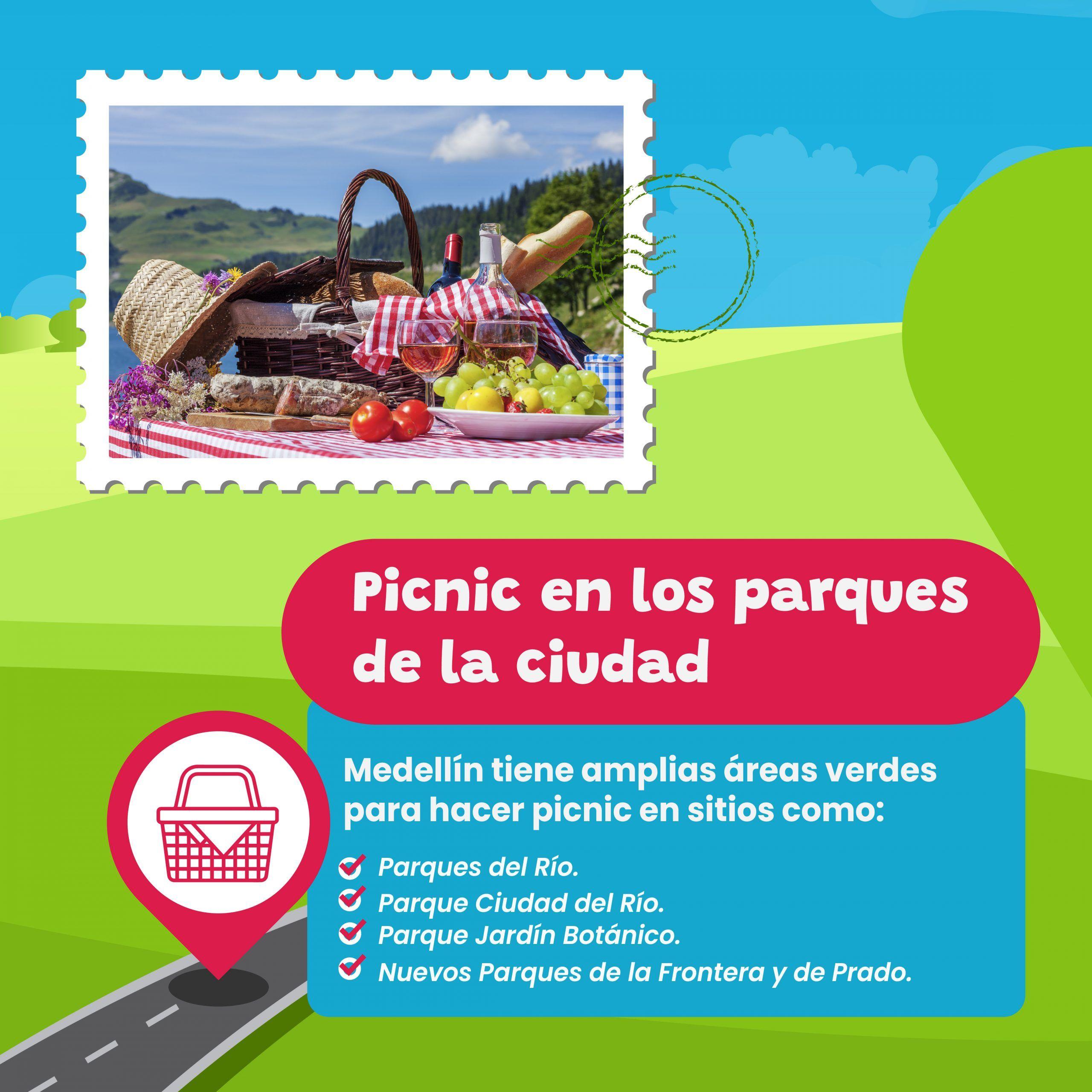 picnic en los parques de la ciudad